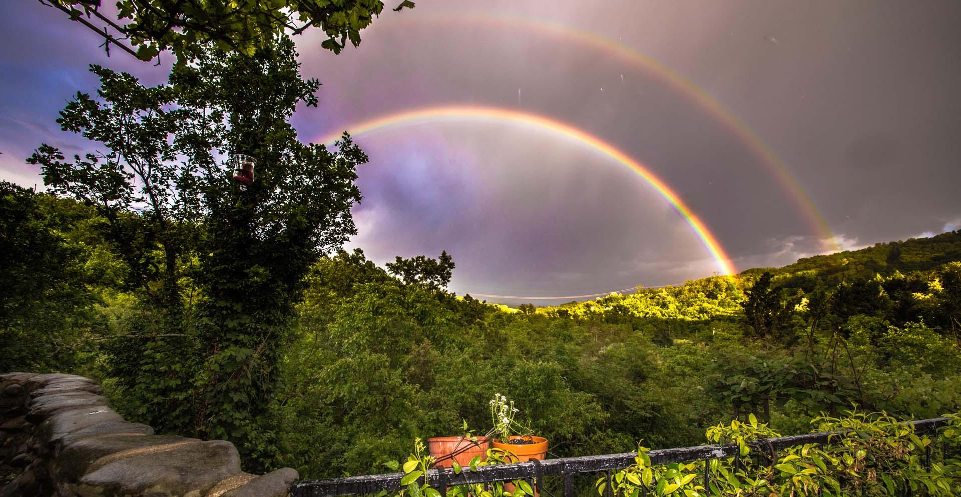 Regenbogen in der Toskana
